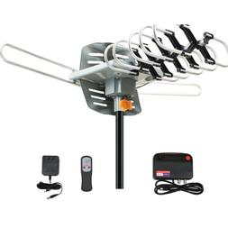 360°Rotation Outdoor HD TV Antenna Motorized Amplified 1080