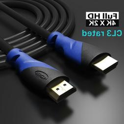 4K HDMI Cable High Speed 18Gbps HDMI 2.0 Cable for UHD TV,Bl