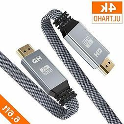 Snowkids 4K UHD HDMI Cable 6.6 ft  High Speed 18Gbps 2.0 Cab