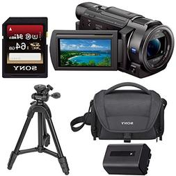 Sony FDR-AX33B 4K Camcorder with 64GB Card & Deluxe Accessor