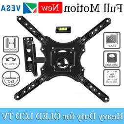 Full Motion TV Wall Mount for Most 32-55 Inch Flat Curved TV