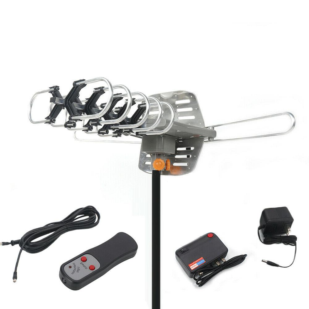 360°Rotation Outdoor Antenna Motorized Amplified 4K Dual-band