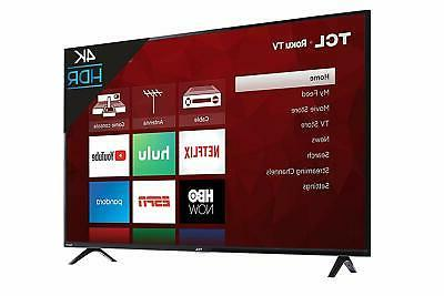 """TCL 55"""" - LED - Series 2160p Smart - 4K TV with HDR Roku TV"""