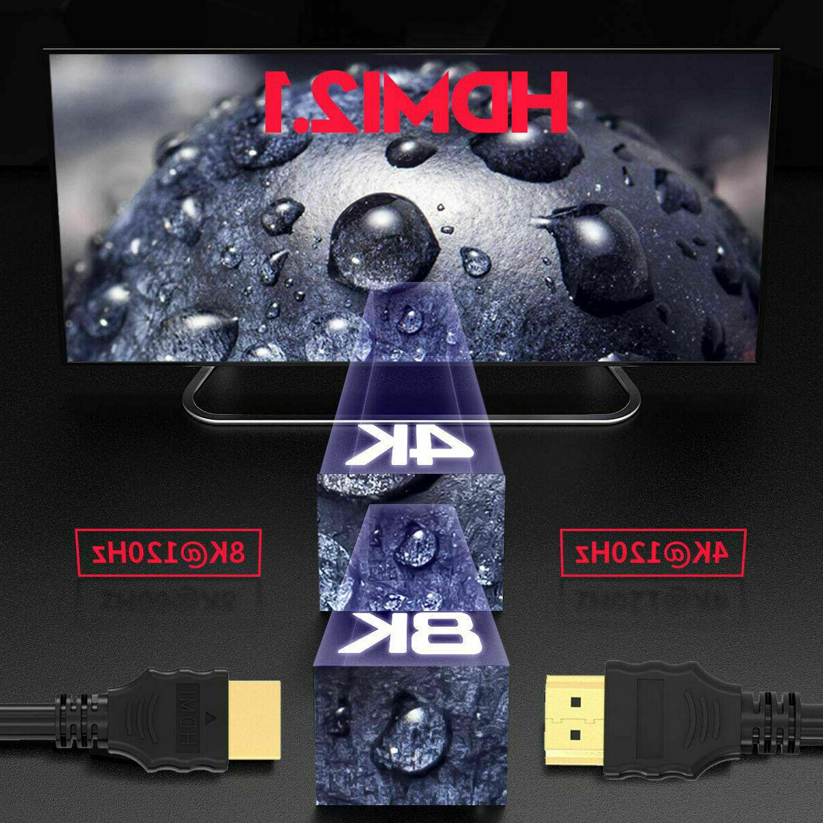 HDMI 8k 48Gbps 3ft/5f/6ft for Apple