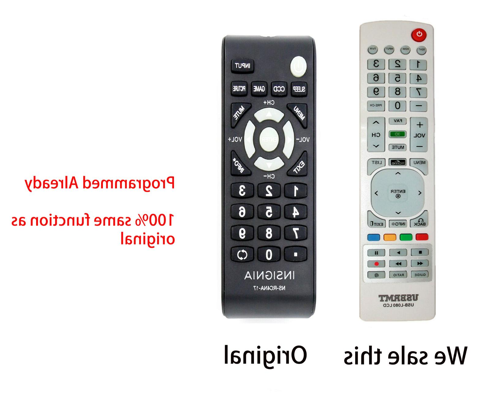 New Universal Remote Control for INSIGNIA TV NS-RC4NA-17  -