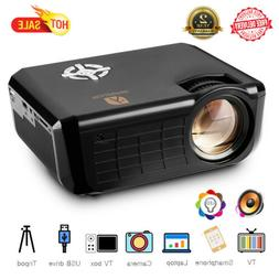 LED Smart Home Theater Cinema 720P HD Projector 7000 Lumens