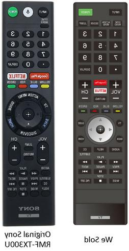 Replaced Sony RMF-TX300U Ver. 3 Remote for Sony 4K HDR Smart