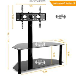 Swivel Floor TV Stand with Height Adjustable Mount for 32-70