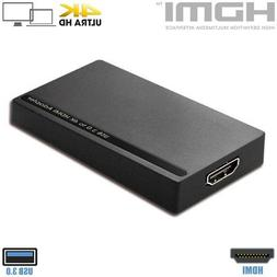 USB 3.0 to HDMI Video Adapter Converter 4K Ultra HD For PC L